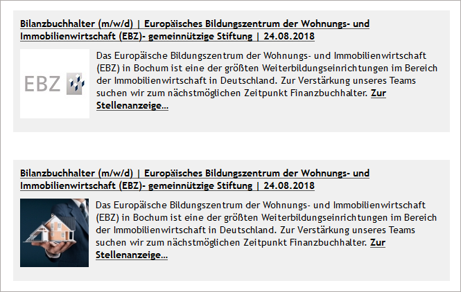 EBZ Stellenbörse Anleitung Stellennewsletter